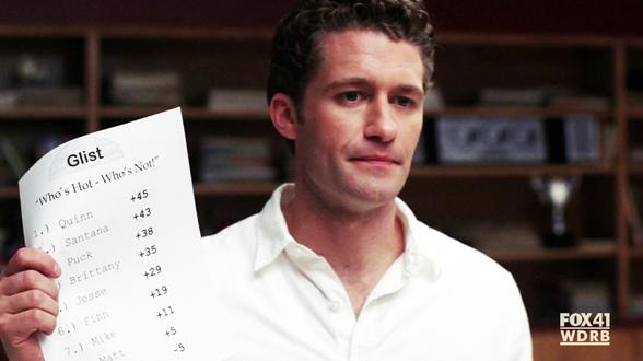 01×17. В коридорах школы появляются листовки с рейтингом сексуальности участников хора
